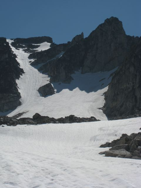 Trapper Peak holds skiable snow until mid-July typically