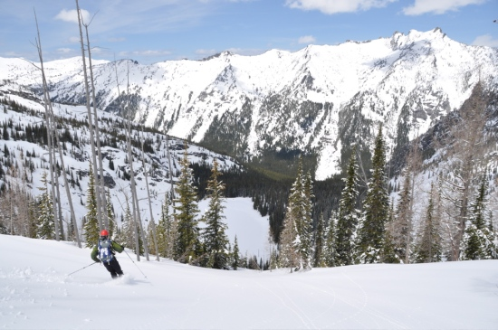 The bowl below the couloir