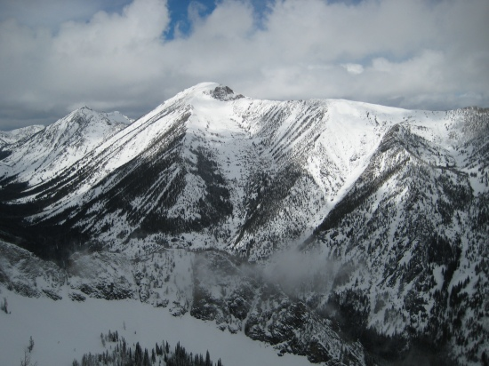 Bass Creek's high point and amazing ski mountain, St. Joseph Peak
