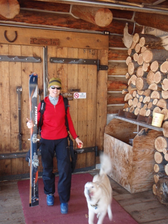 Heading out from the lodge for a day on the Mountain