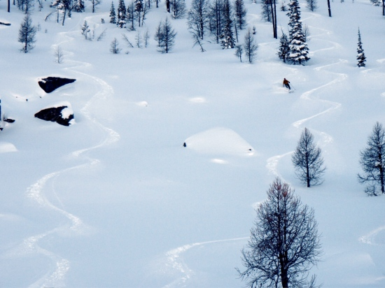 Skiing the Big Bowl
