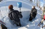 Compression testing snowpack